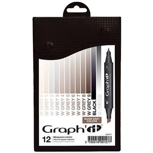 Graphit warm grey zestaw 12 markerów