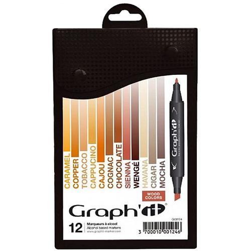 Graphit Wood zestaw 12 markerów