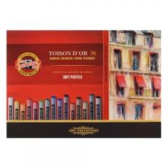 Koh-i-noor toison dor zestaw pasteli suchych 36 kolorów 8515