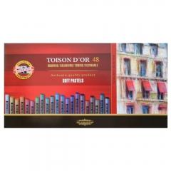 Koh-i-noor toison dor zestaw pasteli suchych 48 kolorów 8516