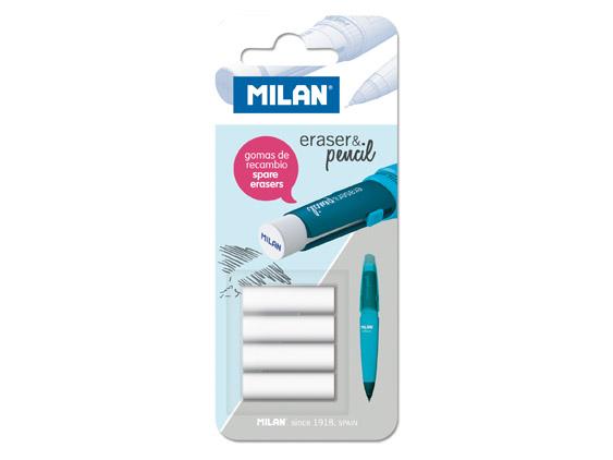 Milan komplet 4 wkładów gumkowych (dużych) na blistrze