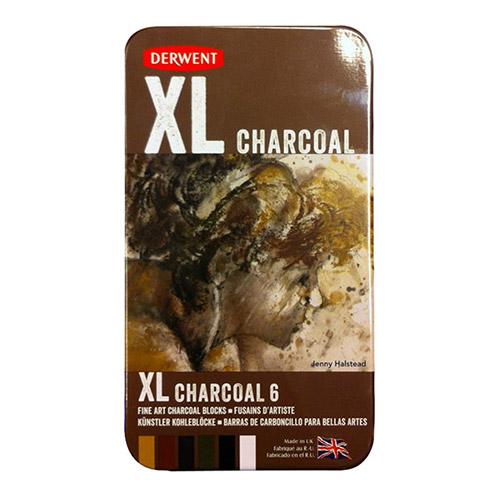 Derwent komplet 6 węgli XL