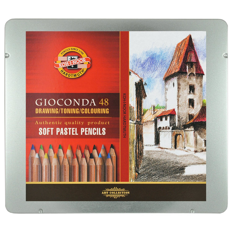 Koh-i-noor gioconda zestaw 48 pasteli suchych w drewnie met. opa