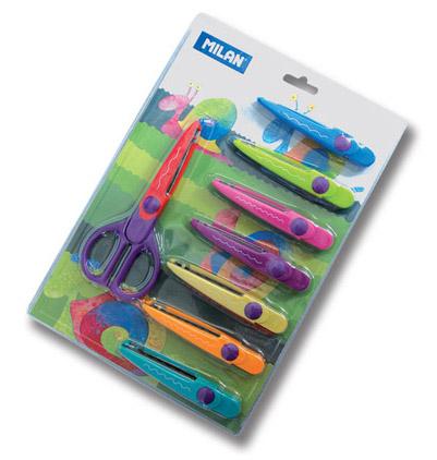 Milan nożyczki do wycinania wzorów z 8 ostrzami na wymianę