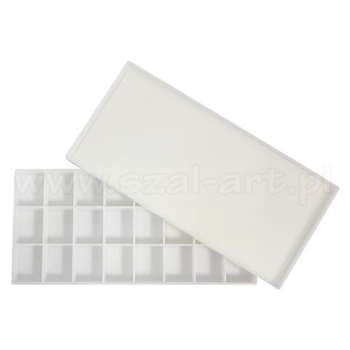 Paleta plastikowa prostokątna 24 komory