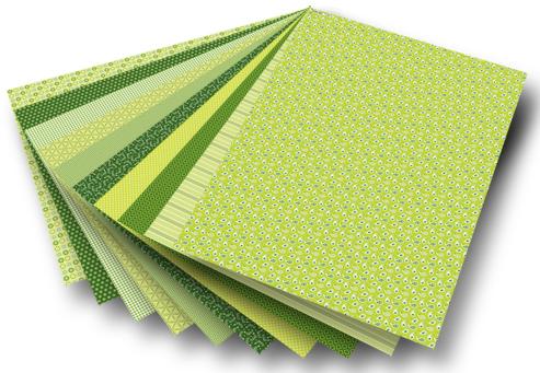 Blok z papierem do scrapbookingu 30 arkuszy - zielony