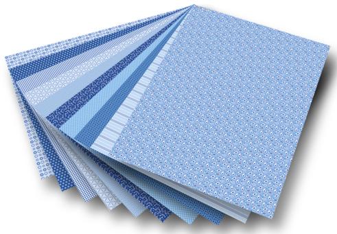 Blok z papierem do scrapbookingu 30 arkuszy - niebieski