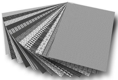 Blok z papierem do scrapbookingu 26 arkuszy - czarno - białe