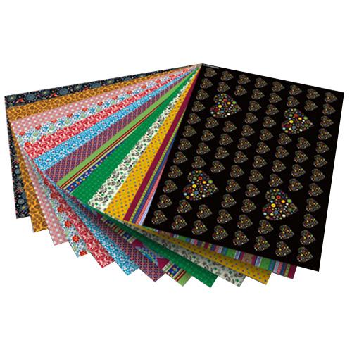 Blok z papierem do scrapbookingu 26 arkuszy - folklore