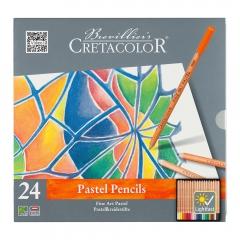 Cretacolor fine art zestaw pasteli suchych w kredce 24 kolorów