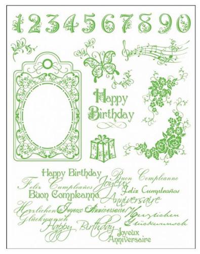Viva Decor stemple silikonowe happy birthday