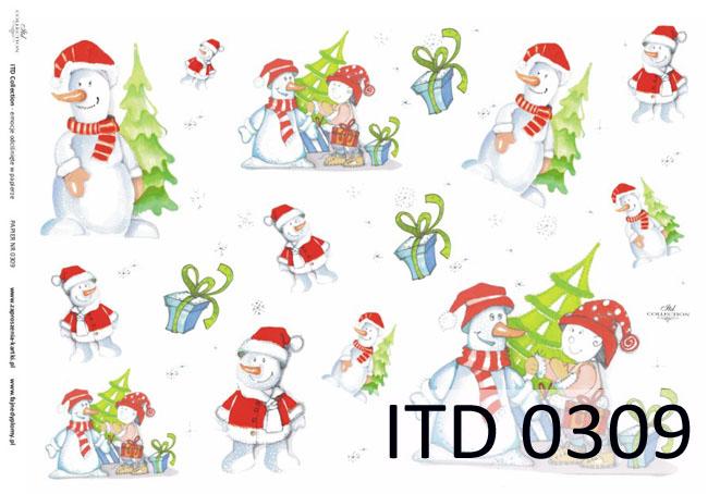 Papier do decoupage A3 ITD 309