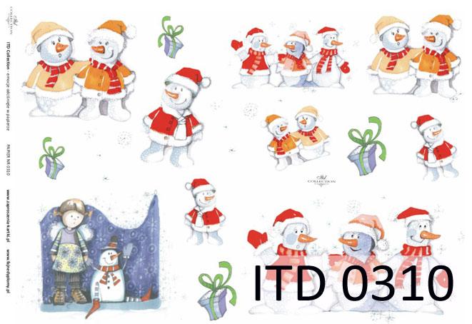 Papier do decoupage A3 ITD 310