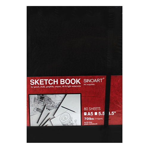 Szkicownik Sinoart sketchbook w twardej oprawie 110g 80ark
