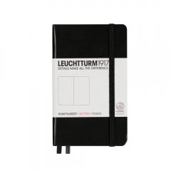 Notatnik LEUCHTTURM1917 pocket A6 czarny kropka