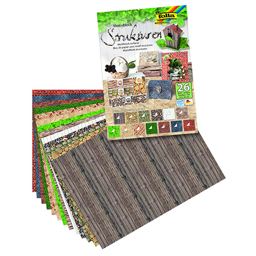 Blok z motywami folia paper 26 ark. 24x34cm struktura