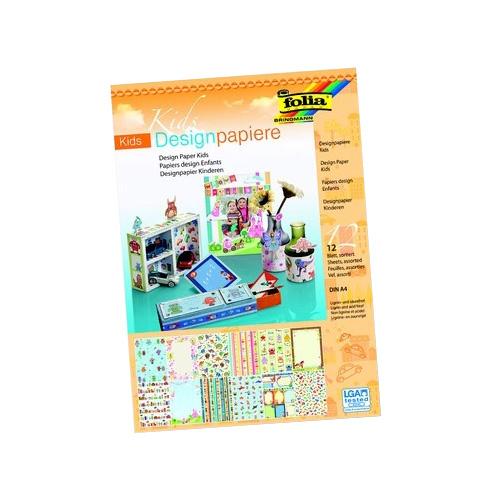 Blok z motywami folia paper A4 12 ark. Dziecko