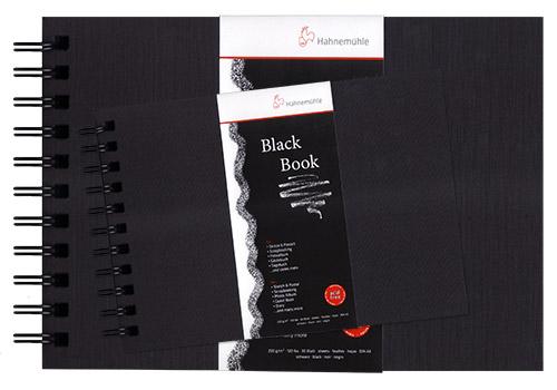 Szkicownik Hahnemuhle black book czarny na spirali 250g 30akr