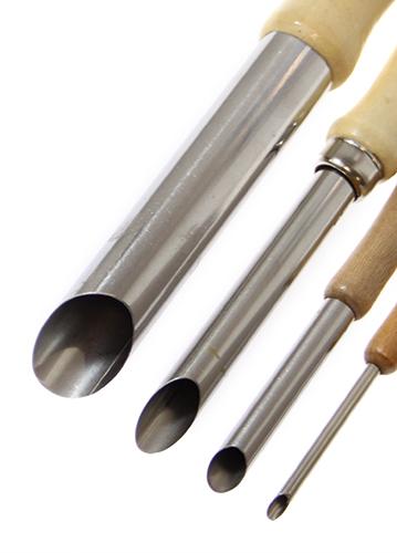 Narzędzia ceramiczne rurowe do dziur komplet 4 sztuki