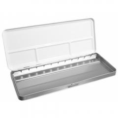 Metalowa kaseta na akwarele półkostki 12szt