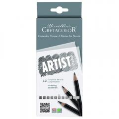 Cretacolor artist studio zestaw 12 ołówków 6B-4H