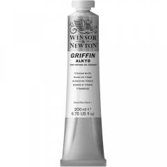 Winsor&Newton griffin farba alkidowa titanium white 200ml