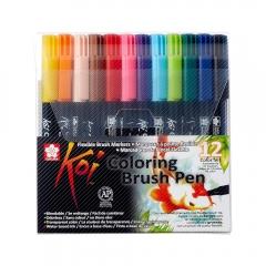 Sakura koi coloring brush pen zestaw 12 pisaków