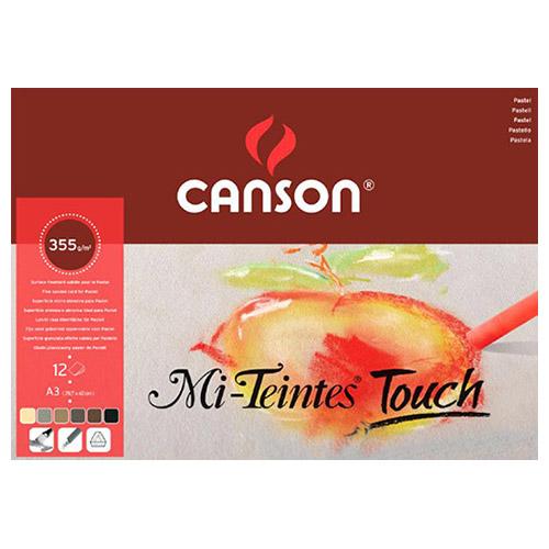 Blok Canson mi-teintes touch 355g 12ark