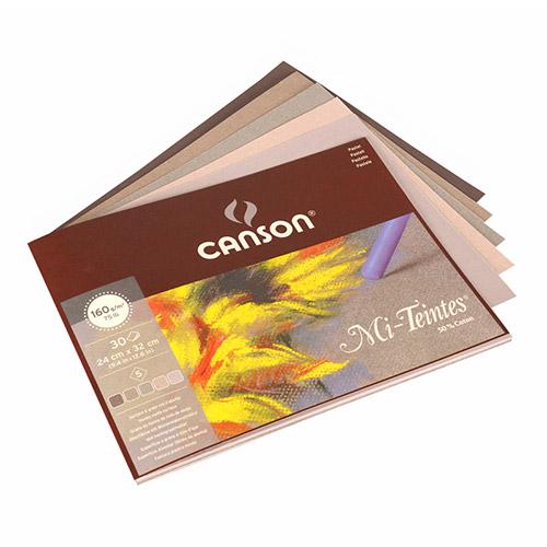 Blok Canson mi-teintes do pasteli 160g 30ark 5 kol