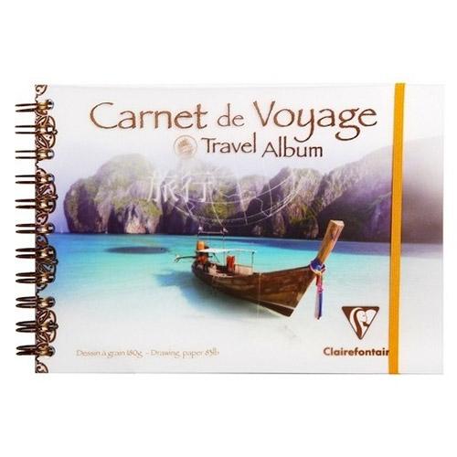 Blok Clairefontaine travel album łódź do wielu technik 180g 30ar