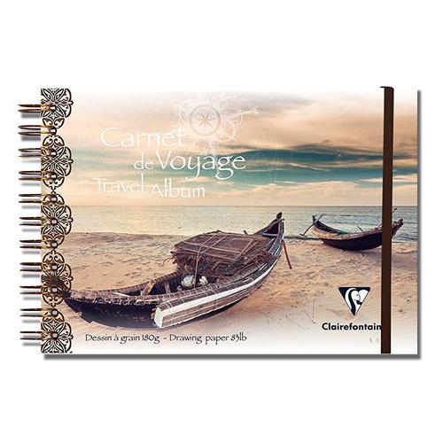 Blok Clairefontaine travel album łódź do wielu technik 180g 30a