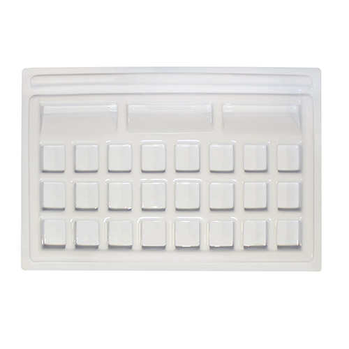 Paleta plastikowa do akwareli 15x22.5cm 27 komór