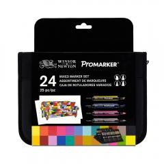Winsor&Newton promarker brushmarker mixed set zestaw 24 kolorów