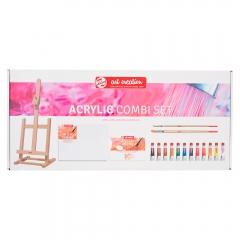 Talens artcreation combi zestaw farb akrylowych 12x12ml+akcesori