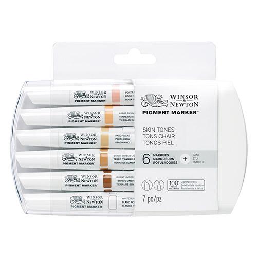 Winsor&Newton pigment marker skin tones zestaw 6 pisaków