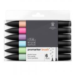 Winsor&Newton brushmarker pastel tones zestaw 6 kolorów 0290125