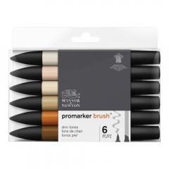 Winsor&Newton brushmarker skin tones zestaw 6 kolorów