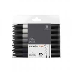 Winsor&Newton brushmarker neutral tones zestaw 13 kolorów 029014