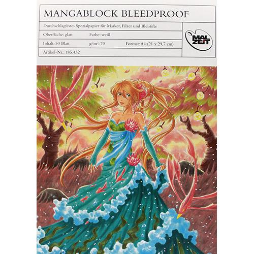 Blok MALZEIT manga bleedproof do markerów 70g 50ark A4