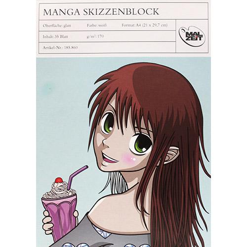Blok MALZEIT manga do markerów 170g 35ark