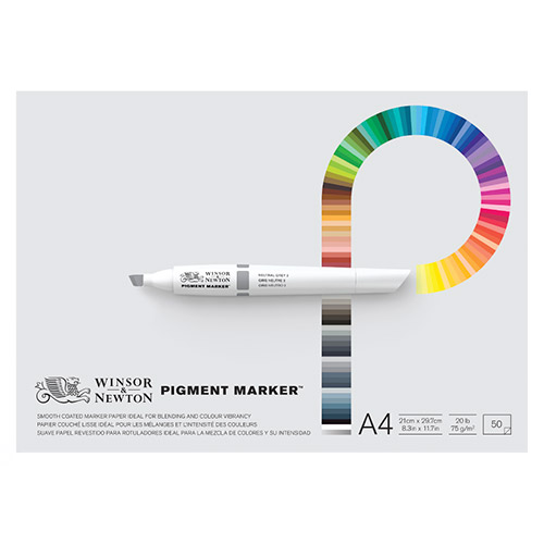 Blok Winsor&Newton pigment marker do pisaków 75g 50ark