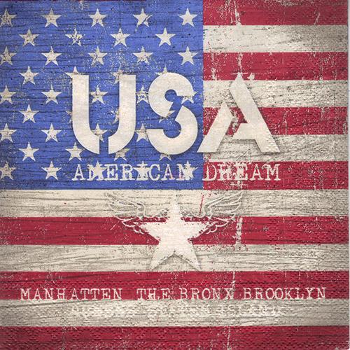 Serwetka do decoupage Ambiente - 30-13307850 american dream