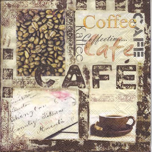 Serwetka do decoupage Ambiente 6-13307625 coffee