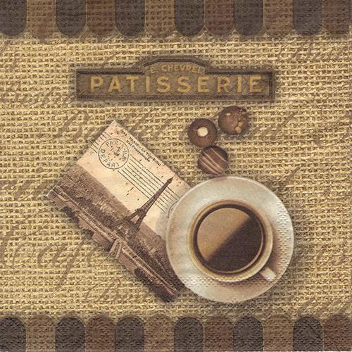 Serwetka do decoupage Ambiente 27-13307940 cafe nostalgic