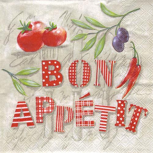 Serwetka do decoupage Ambiente 7-13308330 bon appetit