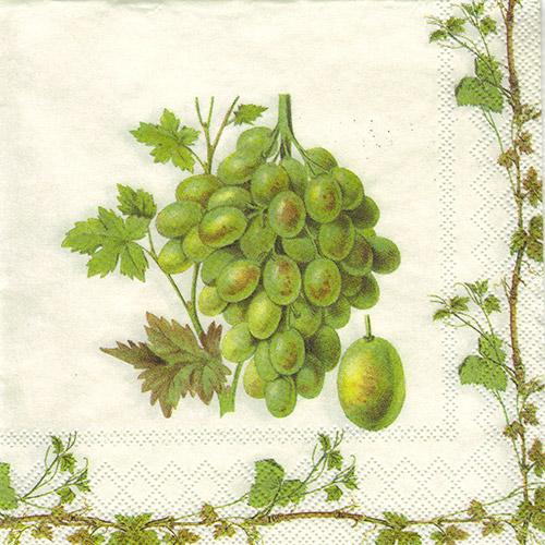 Serwetka do decoupage 32-IHR C607900 grape harvest white