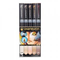 Chameleon skin tones zestaw 5 markerów