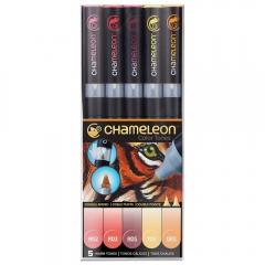 Chameleon warm tones zestaw 5 markerów