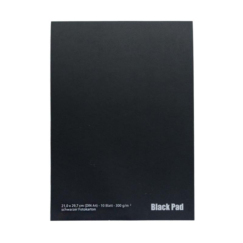 Blok AMI black pad z czarnymi kartkami 300g 10ark A4
