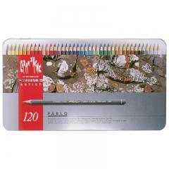Caran dache pablo zestaw 120 kredek metalowe opakowanie
